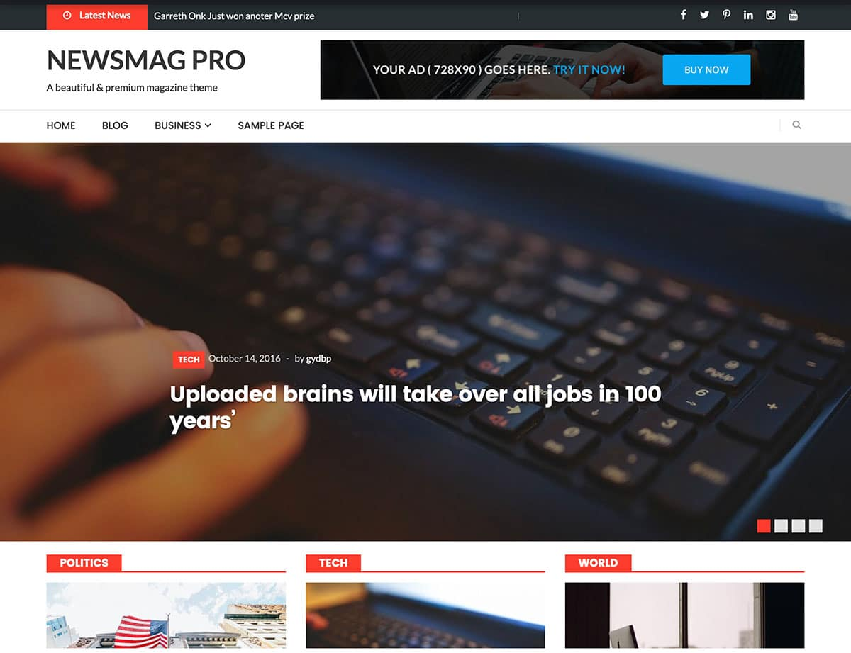 Newsmag-Pro - 38+ Awesome WordPress News Templates [year]