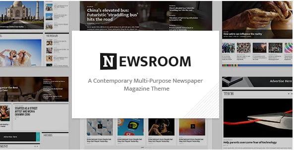 Newsroom - 38+ Awesome WordPress News Templates [year]