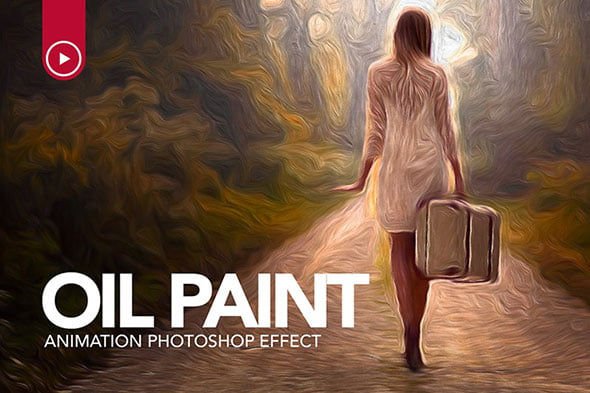Oil-Paint-Animation - 33+ Beautiful Impressionist Art Photoshop Actions [year]