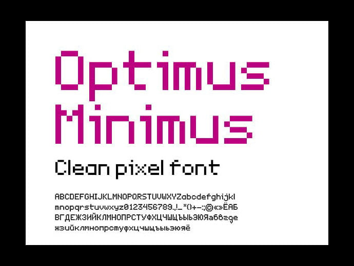Optimus-Miniums - 33+ Lovely Free Retro Pixel & 8-Bit Style Fonts [year]