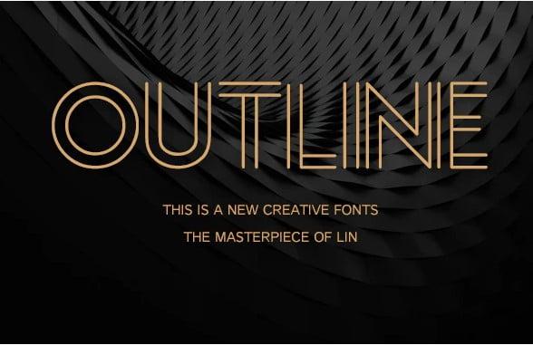 Outline - 39+ Amazing Outline Fonts For Designer [year]