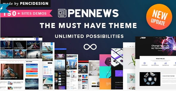 PenNews - 38+ Awesome WordPress News Templates [year]