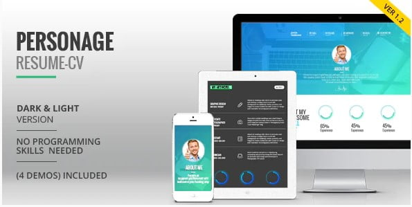 Personage - 34+ Portfolio WordPress Themes For Resume [year]