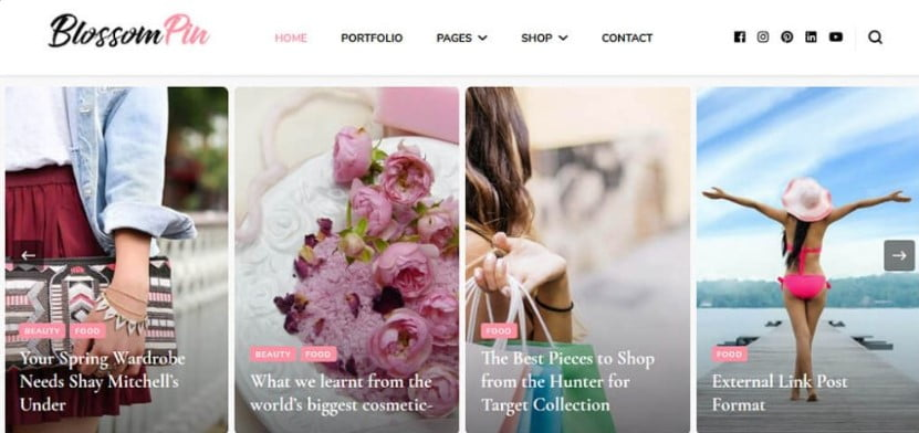 Pin - 35+ Free WordPress Blossom Themes and Templates [year]