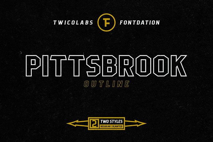 Pittsbrook-Outline - 39+ Amazing Outline Fonts For Designer [year]