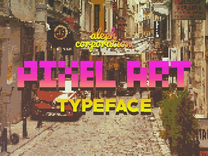 Pixel-Art-Font - 33+ Lovely Free Retro Pixel & 8-Bit Style Fonts [year]