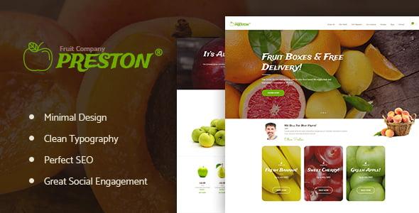 Preston - 39+ Best Fruit & Vegetable WordPress Themes [year]