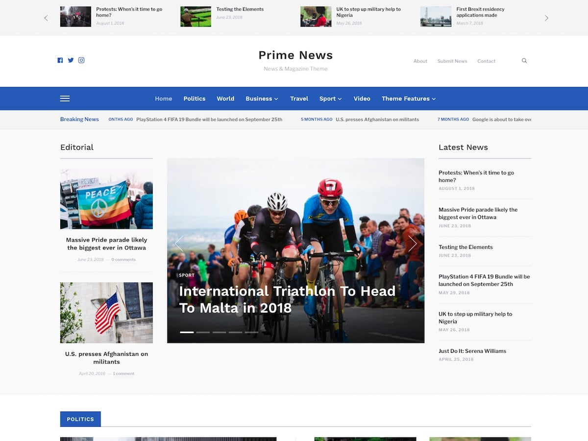Prime-News - 38+ Awesome WordPress News Templates [year]