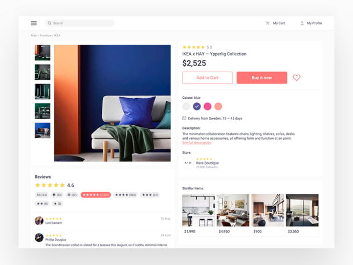 Product-1 - 53+ Awesome Shopping Cart UI Designs [year]