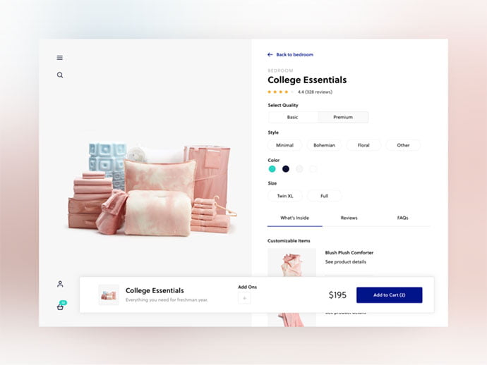 Product-Detail-Page - 53+ Awesome Shopping Cart UI Designs [year]