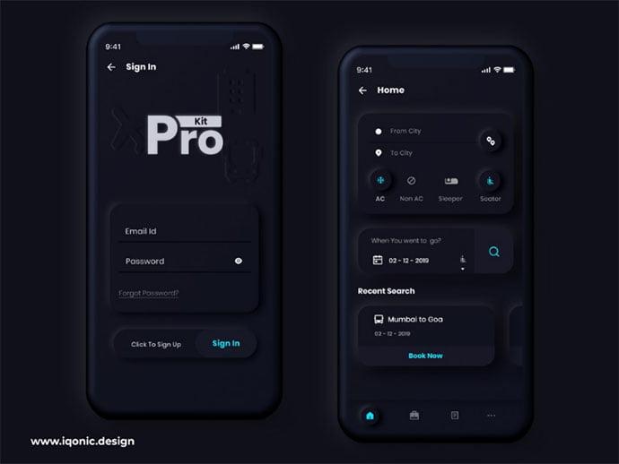 Prokit - 43+ BEST FREE Neumorphism UI Design SAMPLE