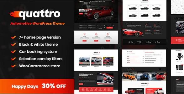 Quattro - 28+ Automotive Accessories WordPress Themes [year]