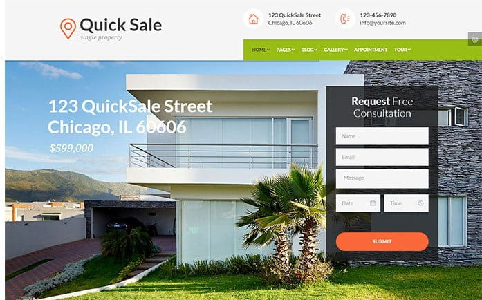 Quick-Sale - 33+ Amazing Real Estate WordPress Themes [year]