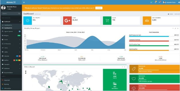 ReactJS - 38+ Amazing React Admin Dashboard Templates [year]