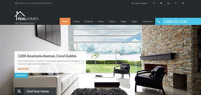 Real-Homes - 33+ Amazing Real Estate WordPress Themes [year]