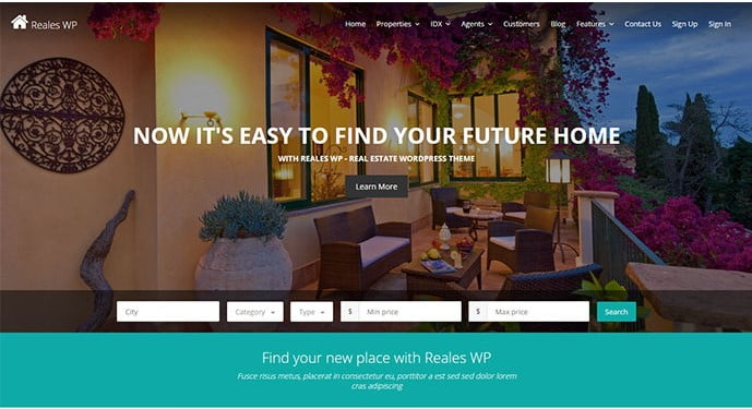 Reales-WP - 33+ Amazing Real Estate WordPress Themes [year]