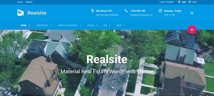 Realsite - 33+ Amazing Real Estate WordPress Themes [year]