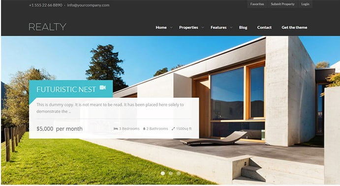 Realty - 33+ Amazing Real Estate WordPress Themes [year]