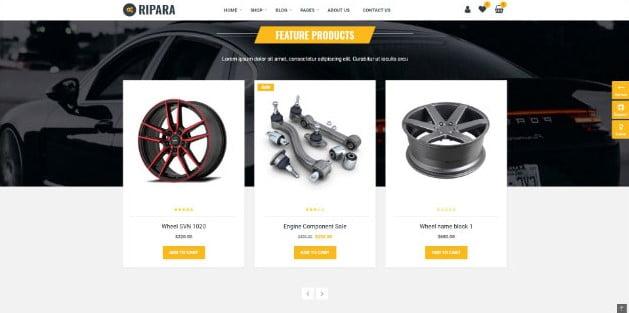 Ripara - 28+ Automotive Accessories WordPress Themes [year]