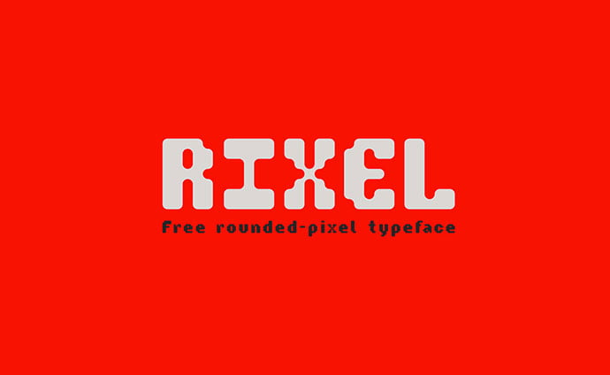 Rixel - 33+ Lovely Free Retro Pixel & 8-Bit Style Fonts [year]