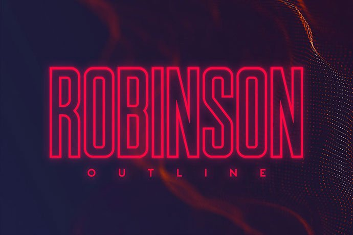 Robinson-Outline - 39+ Amazing Outline Fonts For Designer [year]