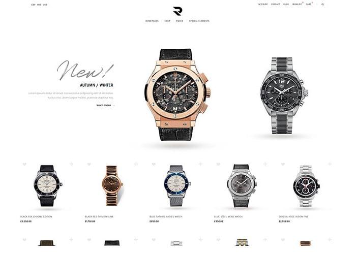 Romeo - 34+ Top Online Watch Shop WordPress Themes [year]