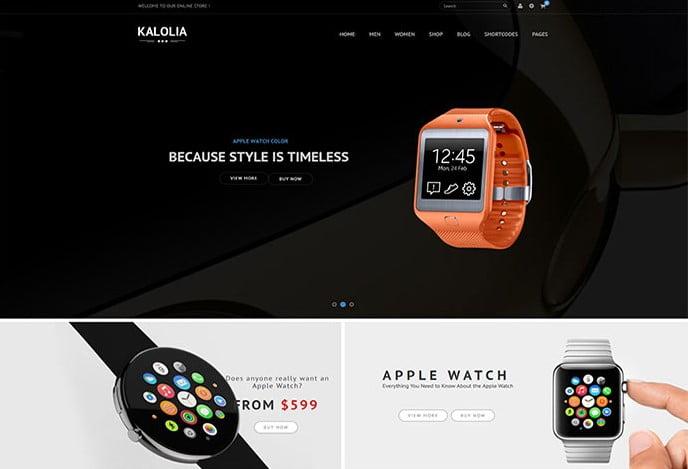 SNS-Kalolia - 34+ Top Online Watch Shop WordPress Themes [year]