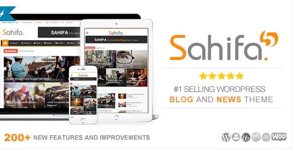Sahifa - 38+ Awesome WordPress News Templates [year]