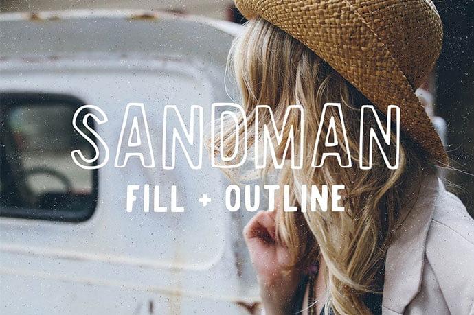 Sandman - 39+ Amazing Outline Fonts For Designer [year]