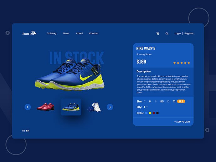Shoes - 53+ Awesome Shopping Cart UI Designs [year]