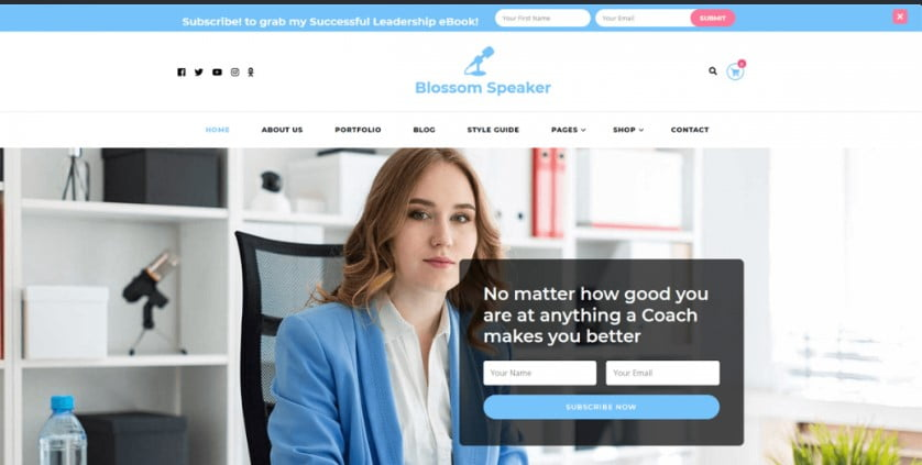 Speaker - 35+ Free WordPress Blossom Themes and Templates [year]