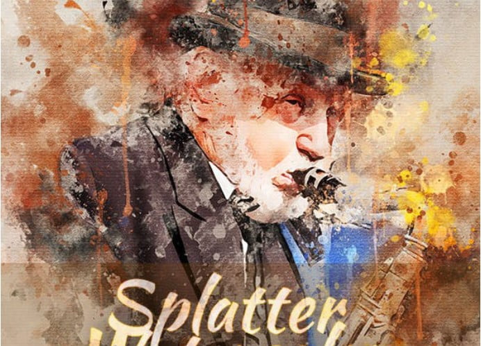 Splatter - 33+ Beautiful Impressionist Art Photoshop Actions [year]