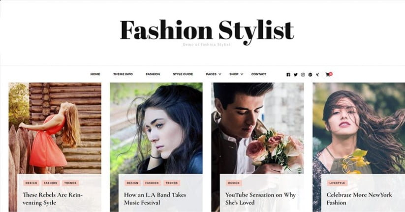 Stylist - 35+ Free WordPress Blossom Themes and Templates [year]