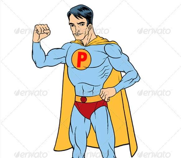 Super-Hero-Mascot - 38+ Marvelous Comic Style Illustrations [year]