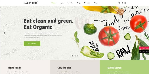 Superfood - 39+ Best Fruit & Vegetable WordPress Themes [year]