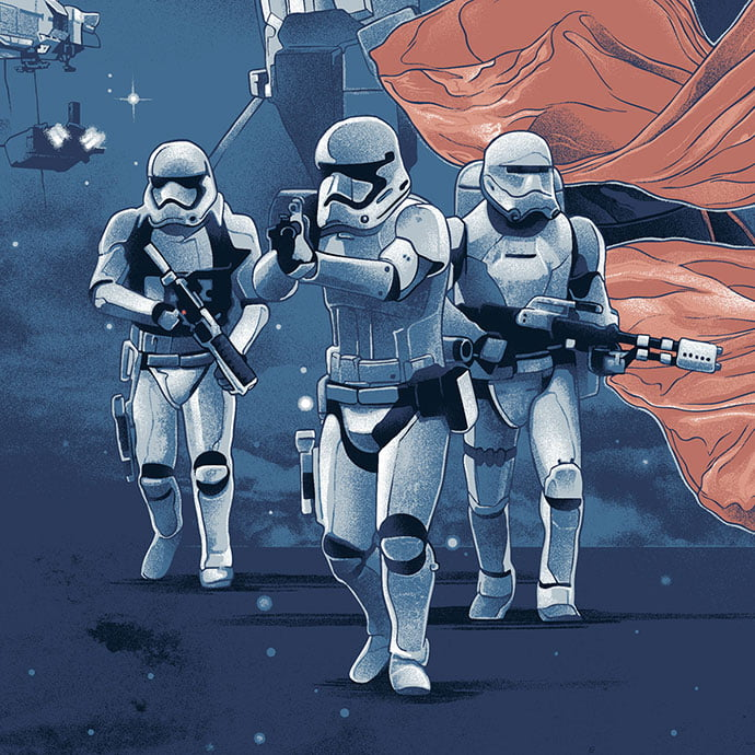 The-Force-Awakens - 38+ Marvelous Comic Style Illustrations [year]