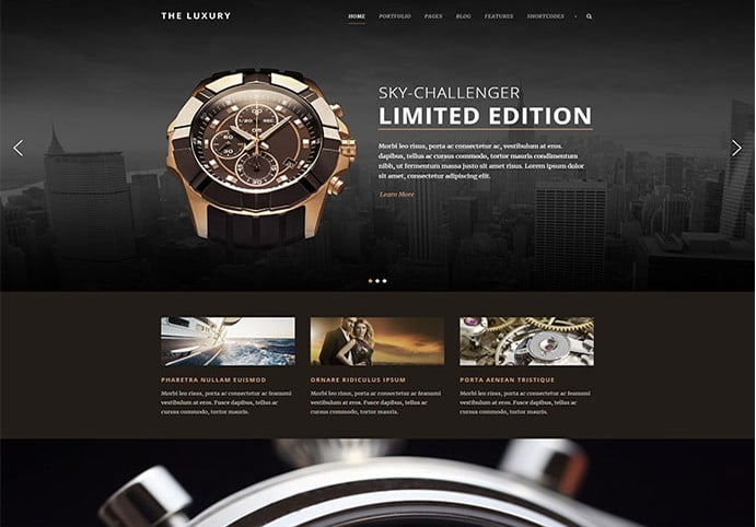 The-Luxury - 34+ Top Online Watch Shop WordPress Themes [year]