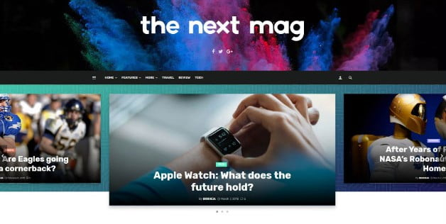 The-Next-Mag - 33+ Great Science & Technology WordPress Themes [year]