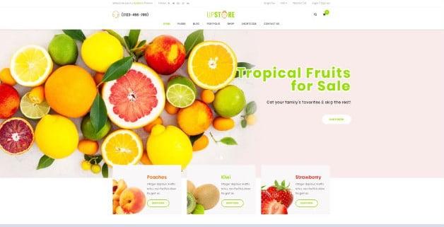 UpStore - 39+ Best Fruit & Vegetable WordPress Themes [year]