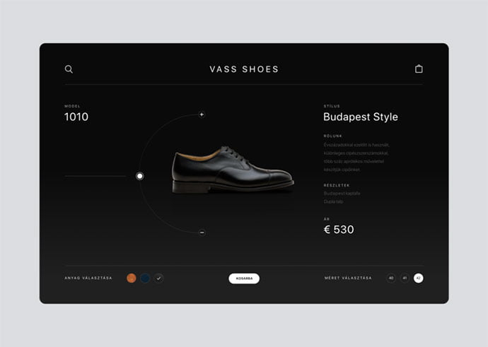 Vass-Shoes - 53+ Awesome Shopping Cart UI Designs [year]