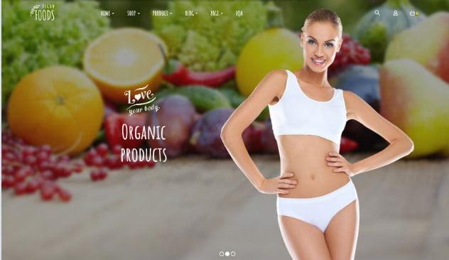 Vegan-Food - 39+ Best Fruit & Vegetable WordPress Themes [year]