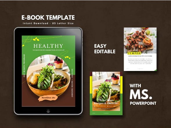 Vegetarian-Recipe-eBook - 35+ Creative Free Cookbook Designs Example [year]