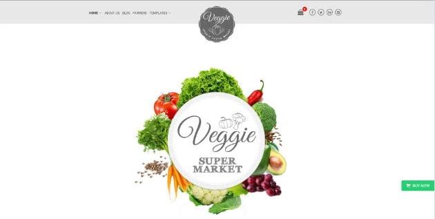 Veggie - 39+ Best Fruit & Vegetable WordPress Themes [year]