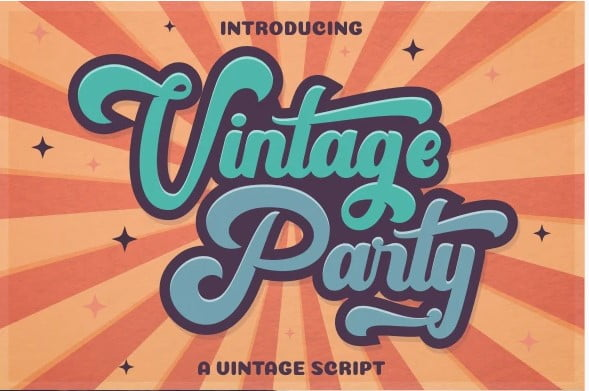 Vintage-Party - 33+ Lovely Free Retro Pixel & 8-Bit Style Fonts [year]