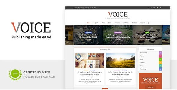Voice - 38+ Awesome WordPress News Templates [year]