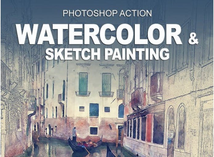Watercolor - 33+ Beautiful Impressionist Art Photoshop Actions [year]