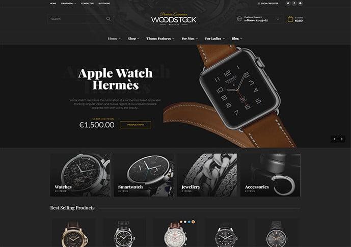 Woodstock - 34+ Top Online Watch Shop WordPress Themes [year]
