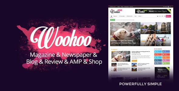 Woohoo - 38+ Awesome WordPress News Templates [year]