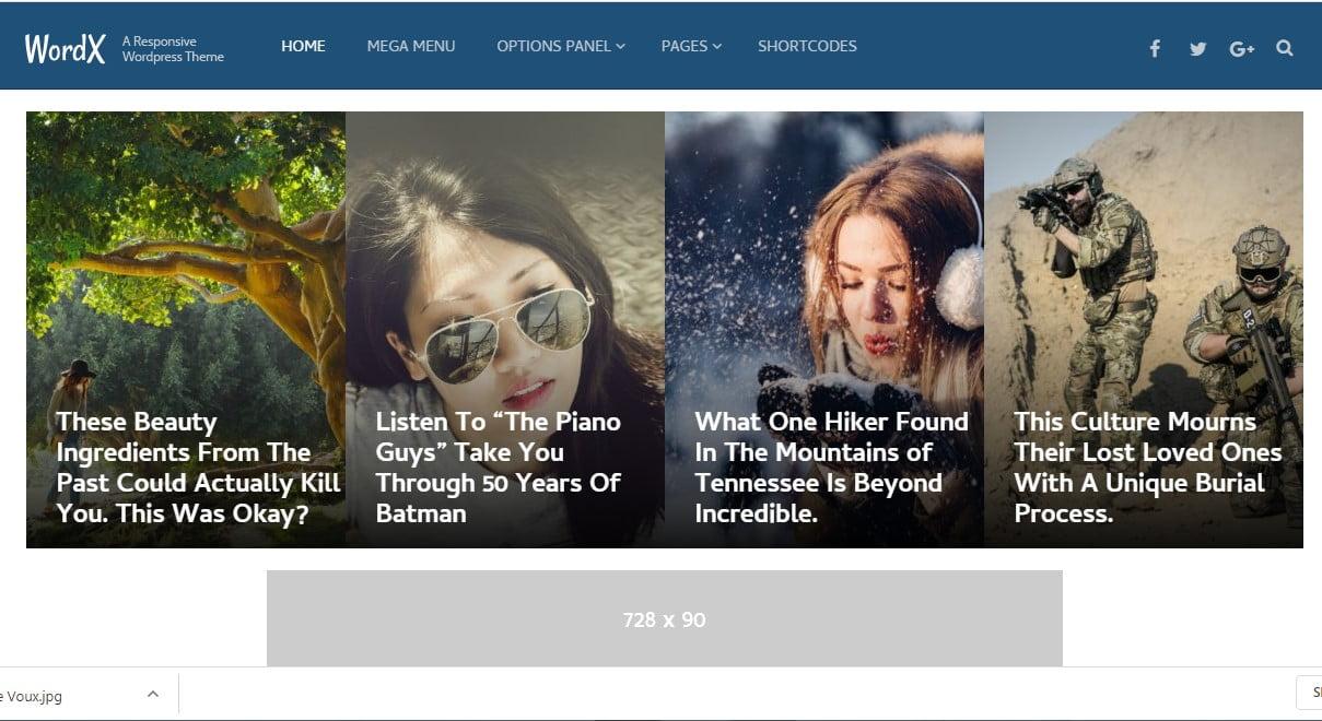 WordX - 38+ Awesome WordPress News Templates [year]