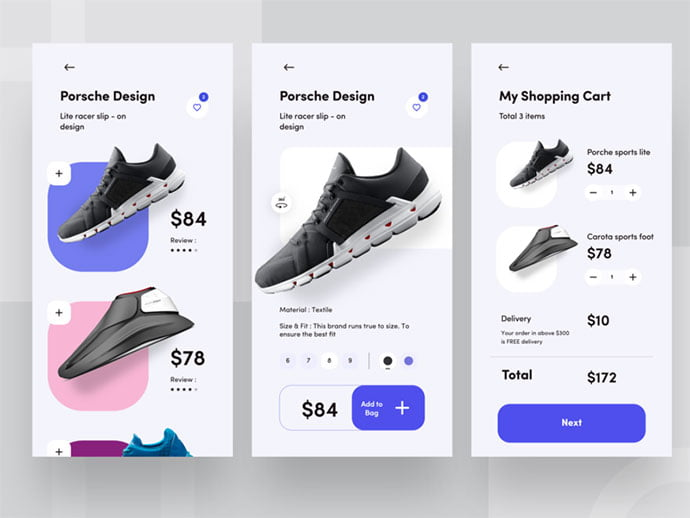 e-commerce - 53+ Awesome Shopping Cart UI Designs [year]